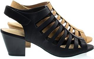 406819de366 City Classified Anakin Black Comfort Foam Pad T-Strap Cage Dress Sandal