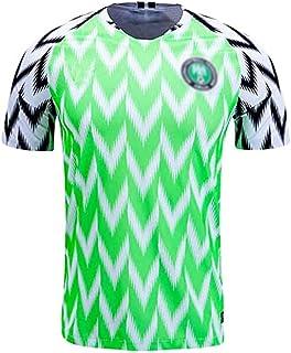 Herren Trikot Fußball Trikot, Fan Trikot Nigeria Heim Fußball Trikot, Herren Adult-Shirts Leichtathletik Retro Sport Freizeit T-Shirt