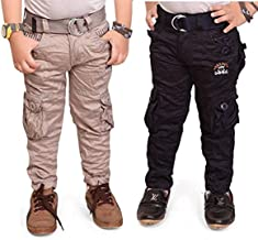 ADBUCKS Boys' Regular Fit Cargos (Pack of 2)