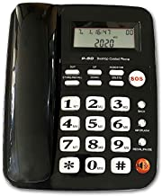 Corded Phone with Speakerphone, HePesTer P-50 Home Landline Phone with Caller ID Large..