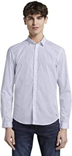 Tom Tailor Men's All-Over Small Triangle Print Shirt