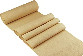 COTTON CRAFT - 2 Pack - Jute Burlap Table Runner - 12 in. x 108 in. Each - 6 Yards Total - Rustic Hessian - Overlocked Edges - for Weddings, Home Décor & Crafts