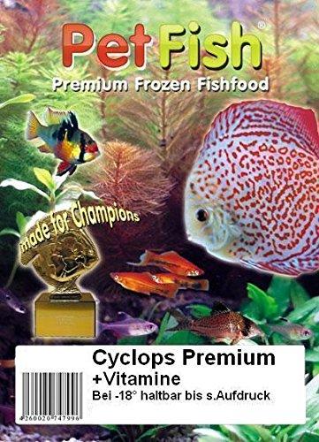 5 kg / 50 X 100g Rote Cyclops Premium + Vitamine / super Jungfischfutte / Premium Frostfutter / Diskusfutter / Zierfischfutter / Fischfutter / Diskus / Fische / Meerwasser Futter / Meerwasserfutter
