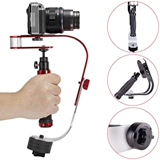 Video Camera Stabilizer, Portable Handheld Gimbal Stabilizer with Counterweight for GoPro, Smartphone, Canon, Nikon Or Any Camera Up to 3.3 Lbs