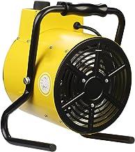 WILK Calentador De Ventilador Eléctrico Industrial De 2KW / 3KW, Calentador De Aire con Termostato Silencioso A Prueba De Agua De 3 Velocidades para Invernadero Taller Garaje-Amarillo