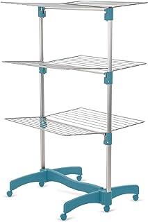 LaundrySpecialist® ÉTENDOIR À Linge RÉVOLUTIONNAIRE, Solide ET Polyvalent 40 mètres Aluminium - 3 étages et entièrement Pl...