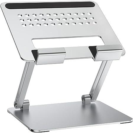 タブレット スタンド 折りたたみ式 ホルダー 高さ角度調整可能 アルミ製 姿勢改善 人間工学設計 for iPad/Kindle/Surface/Nintendo Switch機種に対応 4-13.3インチに対応(シルバー)