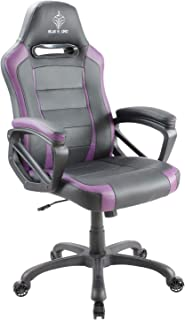 BLUE SWORD Gaming Chair, Racing Car Style Gaming Chair with Large Bucket Seat, Computer Chair with Tilting and Swivel Function, Leatherette, Purple