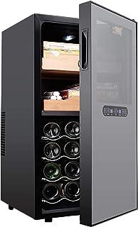 Kontroll av rostfritt cigarrskåp, Inbyggt vinkyl och kylskåp, Touch-kontroll, Digital temperatur- / luftfuktighetsdisplay,...