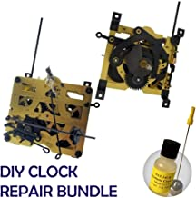 Qwirly 2 Item Bundle: Regula 25 Cuckoo Wall Clock Mechanism Movement & NYE Synthetic Clock Oil 15ml for Clock Repair or Replacement
