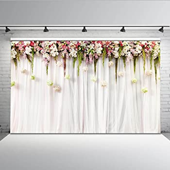 Atongham Mauve Tulle Chiffon Backdrop for Bridal Shower Wedding Ceremony Backdrops Curtains Newborn Baby Shower Backdrop Photo Booth Background Photography