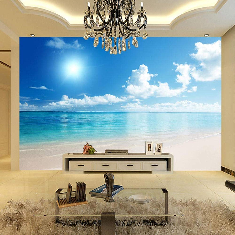 gran venta Mural Papel De Parojo 3D 3D 3D Murales Naturales Paisaje De Playa Papel Tapiz De Parojo De Agua En Sunny Beach  liquidación hasta el 70%