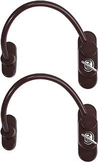 UPVC Door Restrictor for Child Baby Safety Security Cable Window Locks Door Locks with Screws Keys eSynic 4 Pack Window Restrictor Brown