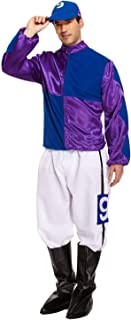 Rimi Hanger Adult Hard Rider Horse Jockey Mens Fancy Dress Stag Party Costume Outfit Purple/Blue