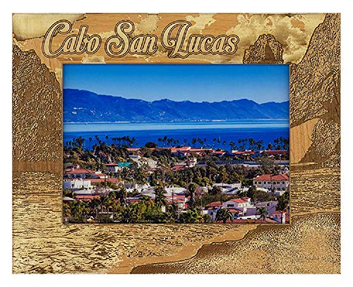 Cabo San Lucas Montage Laser Engraved Wood Picture Frame (4 x 6)