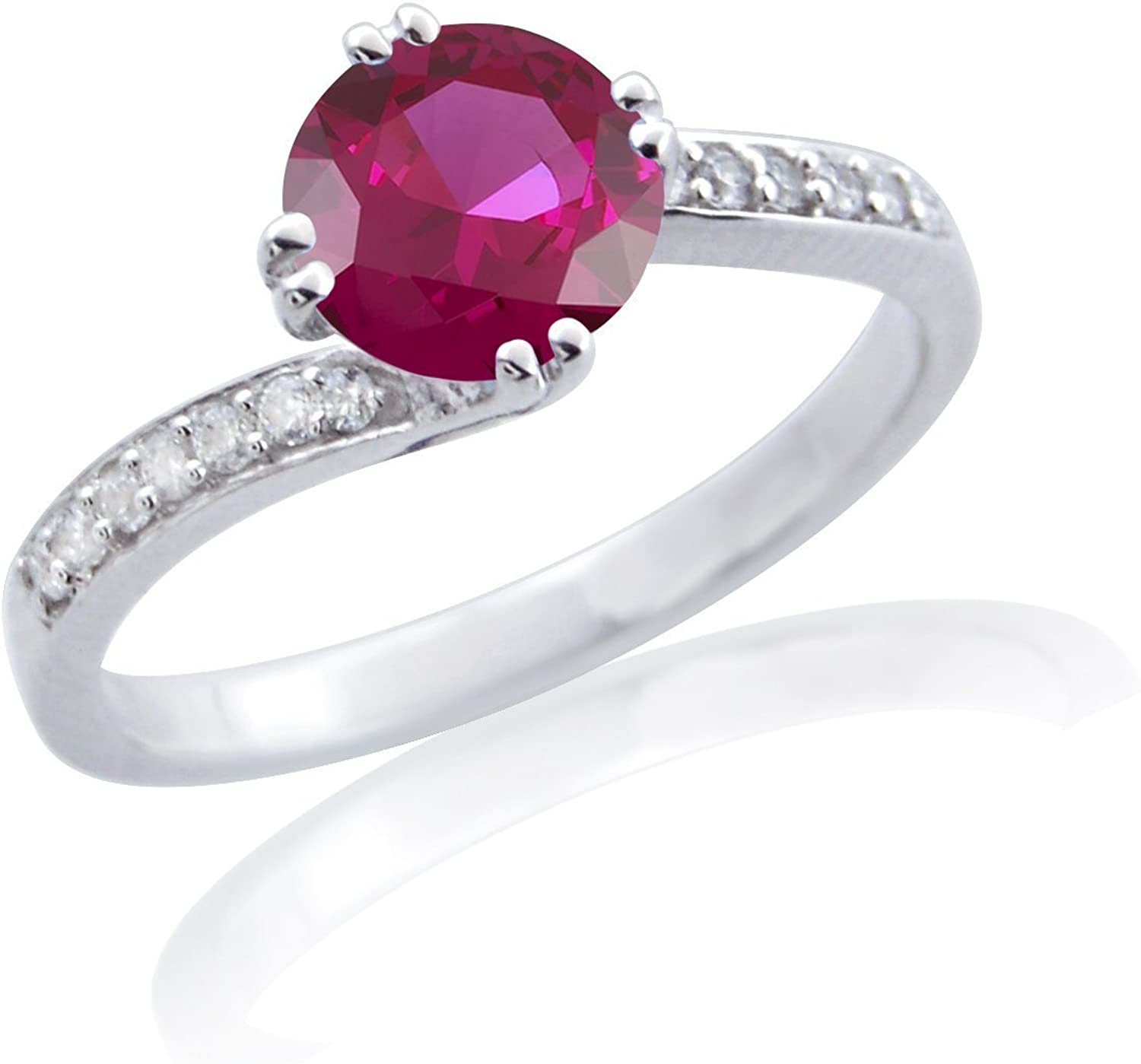 SILVER SEA EMPIRE 1.35 New Ranking TOP3 Shipping Free Ct Ruby VVS1 .925 Si Sterling D Diamond