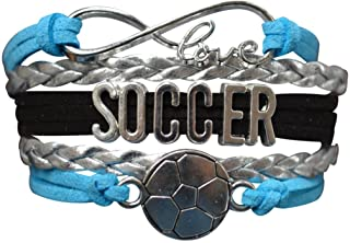 Soccer Gifts- Soccer Bracelet, Soccer Jewelry, Adjustable...