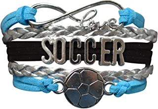 Infinity Collection Soccer Gifts- Soccer Bracelet, Soccer Jewelry, Adjustable Soccer Charm Bracelet- Perfect Soccer Gifts