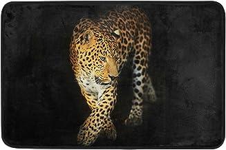 JSTEL Nonslip Door Mat Home Decor, Stylish Leopard Portrait Art Durable Indoor Outdoor Entrance Doormat 23.6 X 15.7 Inches