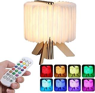 Tomshine LED Lámpara de Libro,Luz Forma de Libro Plegable Recargable USB Book Lamp, Cambio de Color/Temporizador/Con Soporte Luz de Noche Magnética Decorar [Clase de eficiencia energética A+]
