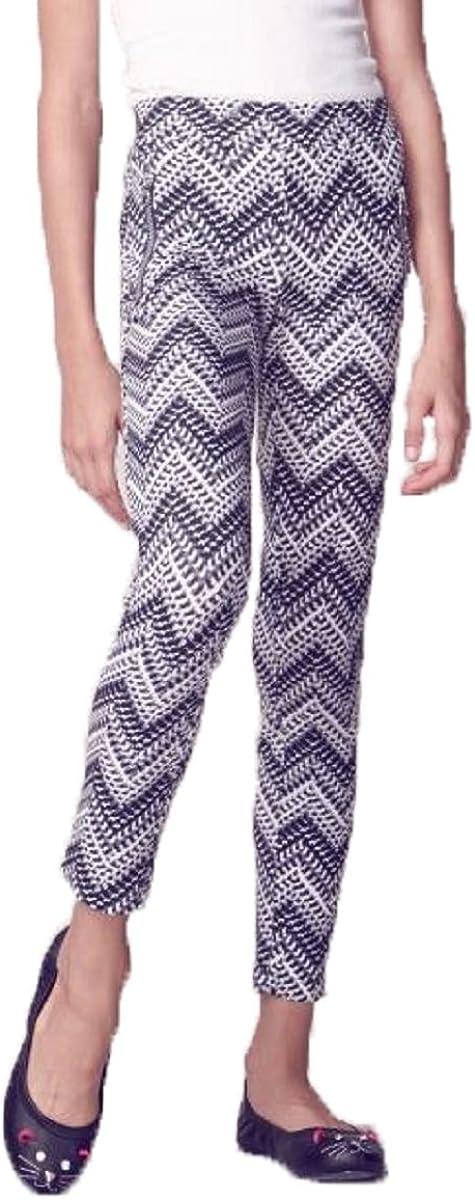 Jessica Simpson Girls Chevron Twill Leggings (Black/White Chevron, Small)