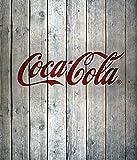 WENKO 2713300100 Fond de hotte verre Coca-Cola Wood, Multicolore, Verre trempé,...