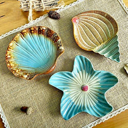 (Conjunto de 3 piezas) Moda mediterránea Plato de fruta de cerámica Plato...