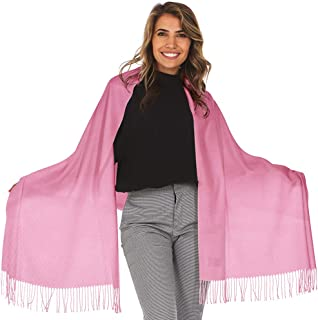 Messerio Shawl Wrap for Women Large Pashmina Scarf Made From a Luxurious Cashmere Stylish Women's Accessory 78 x 28 Inches
