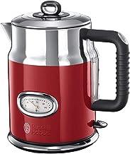 غلاية كهربائية بتصميم ريبون عتيق 21670-70 من راسل هوبز، مصنوع من الستانلس الستيل، 2400 واط، 1.7 لتر، احمر