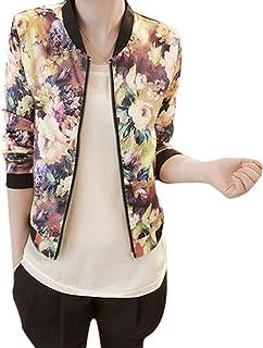 comprar comparacion OverDose mujer Populares 2018 OtoñO Impreso Corto Chaqueta con Jeans Modelo De Moda De Manga Larga Outwear