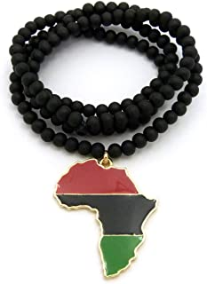 african leather necklace
