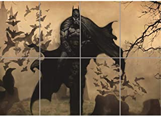 Doppelganger33 LTD Batman Drawing Illustration Bats Super Hero Giant New Art Print Poster OZ125