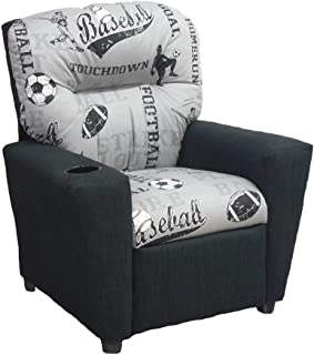 Brazil Furniture Children's Home Theater Recliner with Cupholder, Powell/Sports