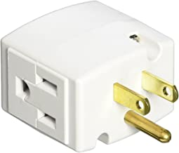 Leviton 692-W 15 Amp, 125 Volt, Triple Cube Grounding Adapter, White