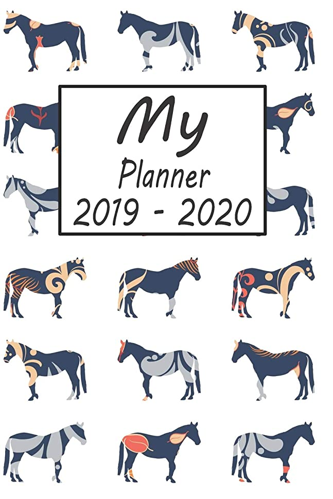 自動的に取り消すプレートMy Planner 2019 - 2020: Horse Pattern Weekly Planner 2019 - 2020: 24 Month Agenda - Calendar, Organizer, Notes, Goals & To Do Lists