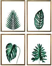 Botanical Leaf Prints, Palm Green Leaf Wall Art, Leaf Home Decor Poster, Green Wall Art, Leaves Plant, Minimalist Tropical Set of 4-8x10 – Unframed