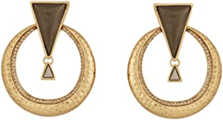 Hymn to Selene Statement Goldtone With Stone Earrings