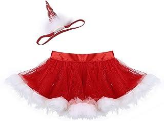 38c65c64a941b iiniim Bébé Enfant Fille Costume Père de Noël Jupe Courte Tulle Jupe de  Danse Classique Tutu