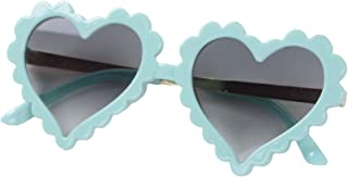Kids Girl Heart Shaped Sungl, Colorful Vintage Cute Baby Eyewear UV 400 Protection Children Girl Boy Gifts