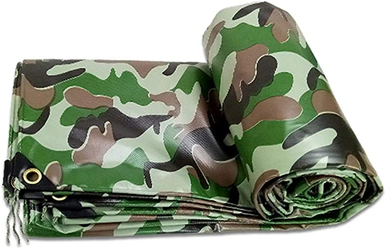 TRNCEE Bache de Camouflage, Tissu imperméable imperméable à l'eau de Pluie Jungle Camouflage Canvas Dustproof Imperméable à l'eau de Prougeection Solaire Prougeection UV