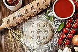 ArtDog Ltd. Norwegischer Elchhund, gravierter Nudelholz, für Kuchen und Kekse, Küchengerät