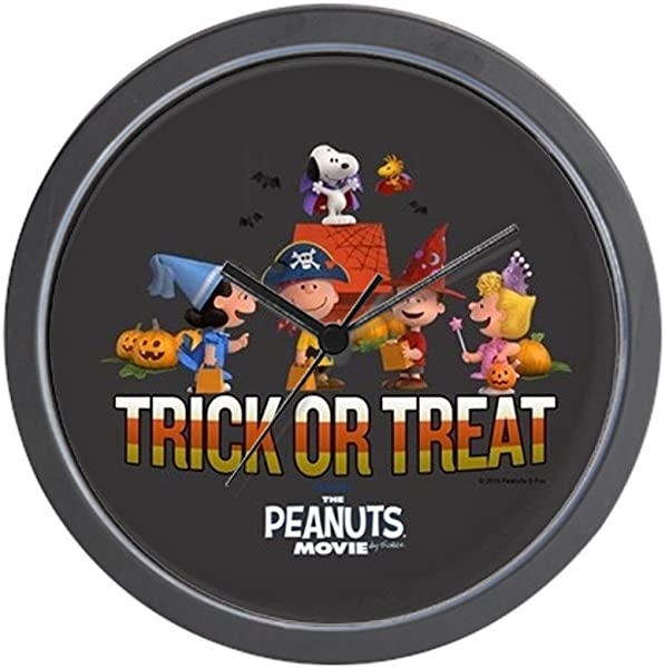 CafePress The Peanuts Movie Trick Or Treat Unique Decorative 10 Wall Clock