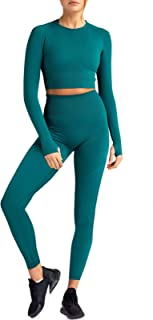bbmee Colorblocked Workout Set Women Training Tracksuits Exercise Clothing 2 Piece Fitness Yoga Outfits Workout Gear
