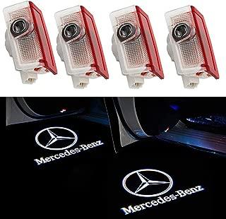 Grolish 4-Pack Car Door LED Lighting Logo Lights Projector Courtesy Welcome Lights For Mercedes-Benz