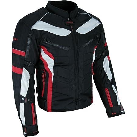 Heyberry Textil Motorrad Jacke Motorradjacke Schwarz Rot Gr Xl Auto