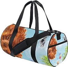 FANTAZIO Gym Duffel Bag Leuke Beer Vliegende Olifant Patroon Mens Gym Duffel Bag