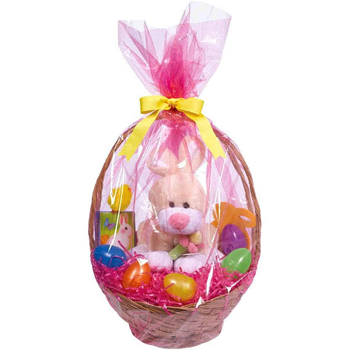 Egg-stra Special Easter Basket Plastic Wrap Bags | Party Favor | 12 Pk.