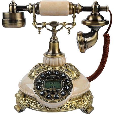 Bewinner Europäische Antikes Telefon Wählscheibe Retro Elektronik