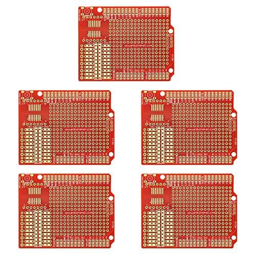 Gikfun Prototype PCB Breadboard para Arduino UNO R3 Shield Board (5 unidades) GK1011