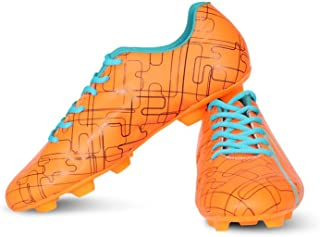 Vector X Chaser Football Shoes (Orange-Black-Firozi)